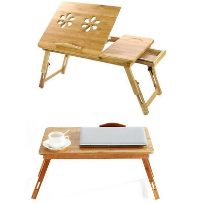 Bamboo Portable Folding Legs Laptop Notebook Table Bed Sofa Tray PC Desk Stand • 14.79£