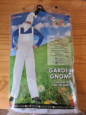 Adults Mens Garden Gnome Smurf Stag Do Night Fancy Dress Costume Beard Hat Large • 8£