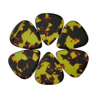 $ CDN12.40 • Buy 50pcs Heavy 1.5mm Blank Guitar Picks Plectrums Celluloid No Print Brown Tortoise