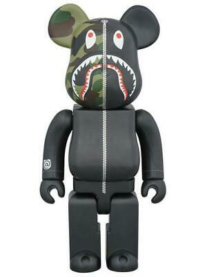$477 • Buy BAPE(R) 1st CAMO SHARK BE@RBRICK BLACK Ver. 400% BEARBRICK
