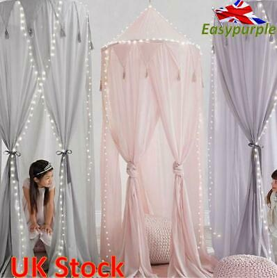 UK Kids Baby Bed Canopy Bedcover Mosquito Net Curtain Bedding Dome Tent Chiffon • 25.19£