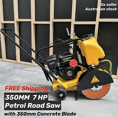 AU988 • Buy Road Saw Concrete Floor Saw 7HP Engine With 350mm Concrete Blade