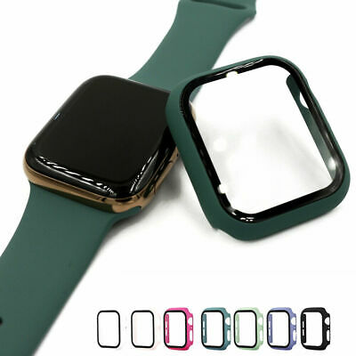 $ CDN7.88 • Buy Apple Watch Series 5/4/3/2/1 Bumper Cover Case Tempered Glass Screen Protector