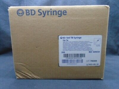 $ CDN49.66 • Buy BD 1mL Sterile Disposable Tuberculin Slip Tip Syringe Blister Pk 200/Box 309659