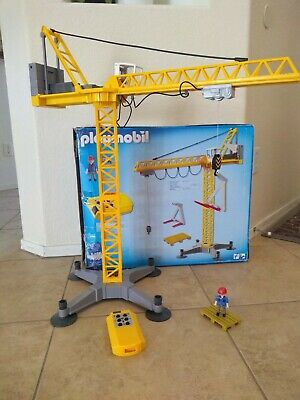£68.09 • Buy PLAYMOBIL 5466 Huge Construction Crane Wireless Remote Controlled Excellent Rare