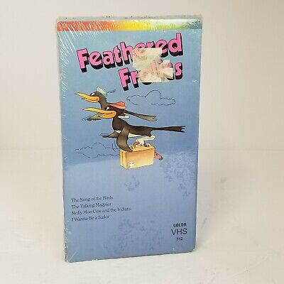 $11.95 • Buy Feathered Frolics VHS Vtg Factory Sealed Magpies Cow Sailor USA 1989