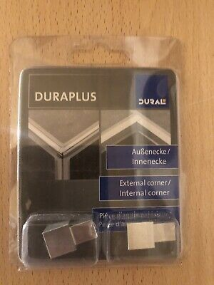 DURAPLUS Tile Trim External Corner Piece Aluminium 10mm Box Trim • 10£