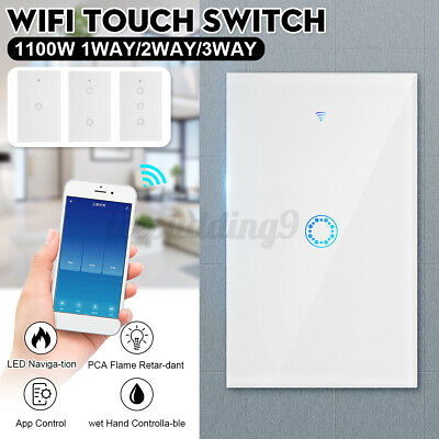 AU27.59 • Buy Smart Home WiFi Touch Light Wall Switch Panel For Alexa Google APP 1/2/3 Gang AU