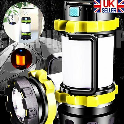 Rechargeable LED Torch Camping Lantern Outdoor Searchlight Emergency Work Light • 11.89£