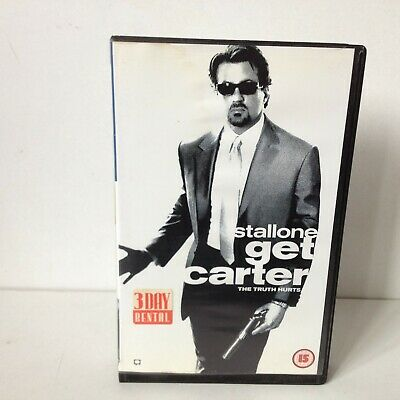 GET CARTER VHS Video Cassette UK Ex-Rental BIG BOX SYLVESTER STALLONE • 10£
