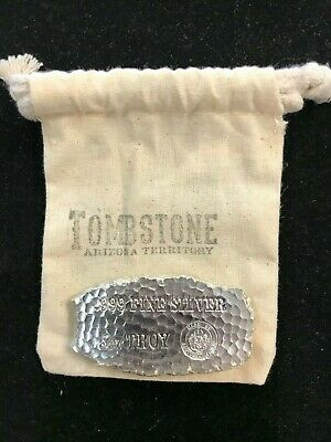 $ CDN180.16 • Buy 5~OZ ~ PURE .999 SILVER ~ TOMBSTONE ~ SILVER  NUGGET  BAR ~  W/Bag
