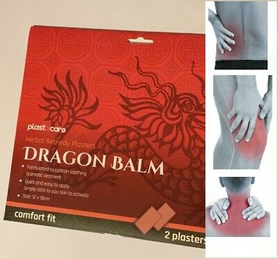 Dragon Balm Pain Relief Patches Herbal Back Plasters Deep Heat Muscle Remedy • 2.60£