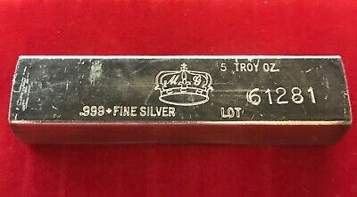 $ CDN178.82 • Buy 5 OZ DUNCAN SILVER BAR VINTAGE INGOT CALIFORNIA CROWN MINT Kit Kat 1 POURED ART