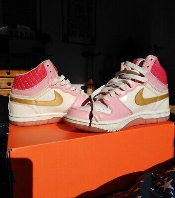 NIKE / Court Force High 2008 Valentines Day Womens/ Rare High Top Trainers UK 4 • 60£
