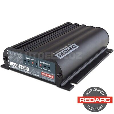 AU609.10 • Buy Redarc Bcdc1225d Dual Input 25a In-vehicle Dc Battery Charger