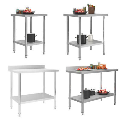 Commercial Prep Catering Table Work Bench Kitchen Dissecting Top Multi Sizes UK • 91.48£