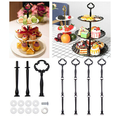 £8.84 • Buy 5x 2/3 Tier Wedding Party Cake Fruit Stand Cupcake Plate Rack Handle Rod Fitting