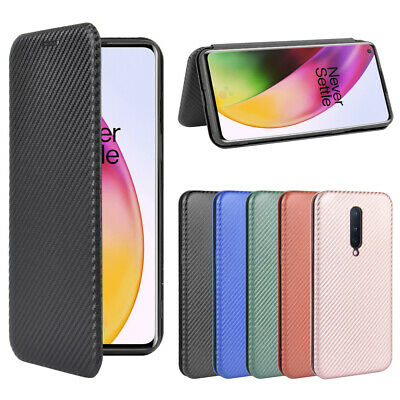 AU12.74 • Buy For Oneplus Flip Carbon Fiber Pattern Stand Leather Wallet Magnetic Case Cover