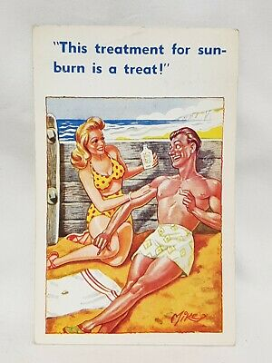 Inter Art SAUCY SEASIDE HUMOUR POSTCARD No 524 1952 • 1£