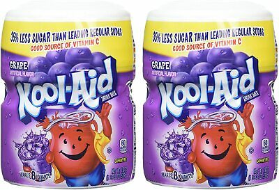 2 Pack Of Kool Aid Grape Powdered Drink Mix, 538g Per Tub | American Import • 22.90£