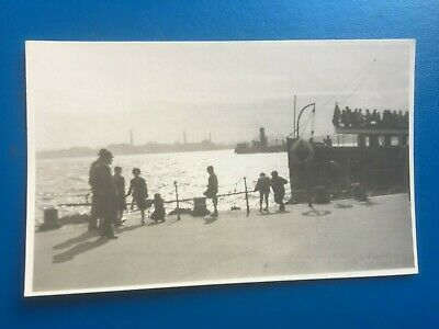£4.99 • Buy Liverpool: Landing Stage With Ferries - Nice Real Photo Postcard!