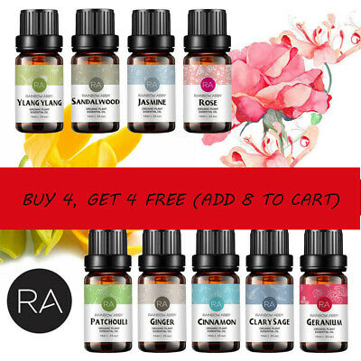AU10.49 • Buy RA Essential Oil Pure Natural Aromatherapy Oils Diffuser Set 10ml Aroma Purifier