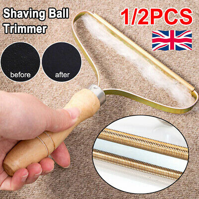 1/2X Portable Lint Remover Fur Clothes Fuzz Shaver Trimmer Wooden Manual Roller • 5.79£