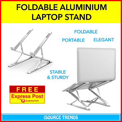 AU79 • Buy Notebook Computer Laptop Stand Riser Adjustable Portable Foldable Aluminium