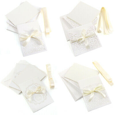 10x Laces Laser Cut Pick Style Wedding Event Meeting Party Invitations Envelopes • 9.21£