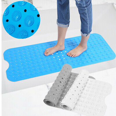 Extra Large Non-Slip Bath Mat Bathtub Bathroom Shower Mat Rubber Strong Suction • 5.89£