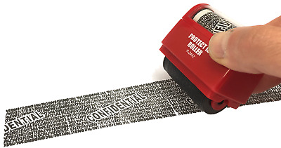 Rubber Stamp Self Inking Stop Identity Theft Erase-It Hide Rolling Privacy Ink  • 7.49£