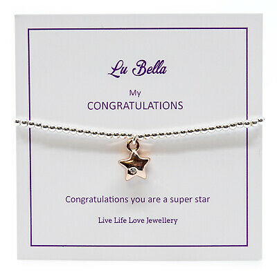£14.75 • Buy Lu Bella - My Congratulations - Silver Plated Charm Bracelet Message Card. Gift