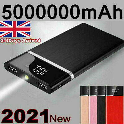 £15.50 • Buy 5000000mAh Power Bank 2 USB Fast Charging External Battery Pack Portable Charger