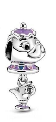 💎🎀 Sterling Silver 925 Disney Mrs Potts & Chip Charm &pouch Beauty & The Beast • 14.99£