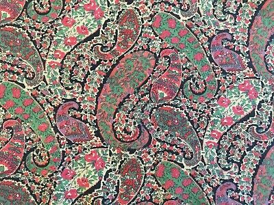 Beautiful Unused Vintage Liberty Paisley Floral Viyella Dress Fabric, 1.3M Long • 27.99£