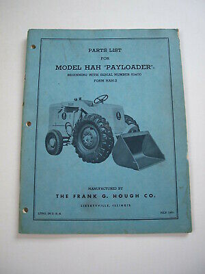 AU64.35 • Buy IH Hough HAH Front-End Wheel PAY Loader Tractor Parts Catalog Manual List 51400-