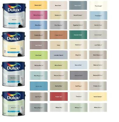 Dulux Smooth Creamy Emulsion Matt Paint ALL COLOURS 2.5L - Walls & Ceiling NEW • 22.98£