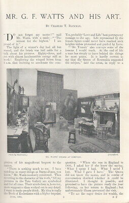 Mr. G.F. Watts And His Art. An Original Article From The Windsor Magazine, 1901. • 14.99£