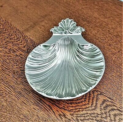SILVER PLATED Shell Shaped Butter Dish • 8.50£