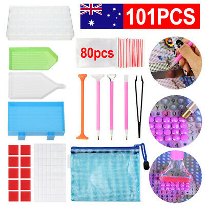 AU14.39 • Buy 101PCS 5D Diamond Painting Tools Box Cross Accessories Kit Art Craft Pen Set DIY