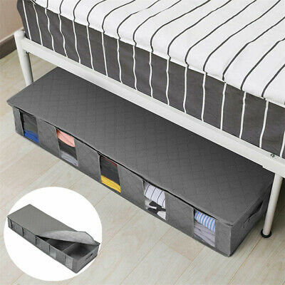 100XLarge Capacity Under Bed Storage Bag Box 5 Compartments Clothes Organizer CZ • 599£