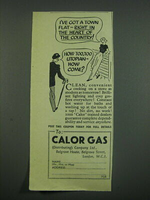 £12.05 • Buy 1949 Calor Gas Stoves Ad - I've Got A Town Flat - Right In The Heart