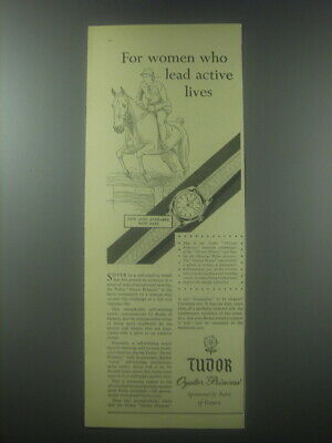 $ CDN21.45 • Buy 1954 Rolex Tudor Oyster Princess Watch Ad - For Women Who Lead Active Lives