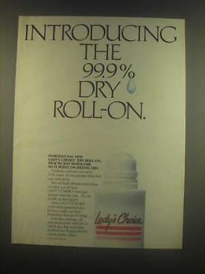 1985 Lady's Choice Deodorant Ad - The 99.9% Dry Roll-On • 12.16£