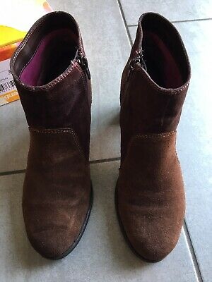 £29.99 • Buy Desigual Ladies Brown Suede Heeled Ankle Boots Size 39 / 6. Great Condition.