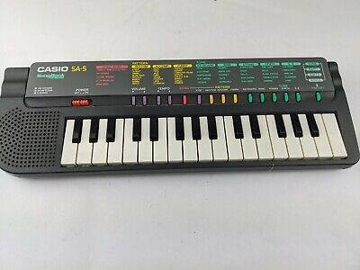 $36 • Buy Casio SA-5 Songbank Mini Electronic Keyboard, Tested And Working Great