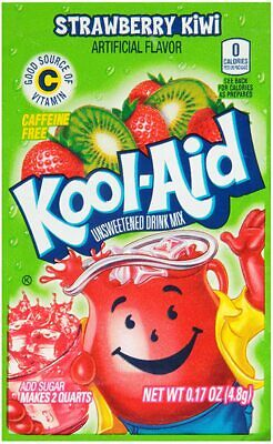 Kool-Aid Sweetened Strawberry Kiwi Powdered Drink Mix (Pack Of 5) American Candy • 11.49£