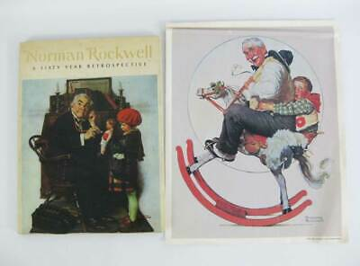 $ CDN15.57 • Buy Norman Rockwell: A Sixty 60 Year Retrospective - 1972~Plus A FREE 1933 Poster!