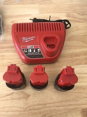 $ CDN92.63 • Buy 3 Milwaukee M12 Batteries With Charger