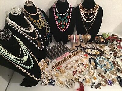 $ CDN86.77 • Buy 9 + Lbs Vintage To Now Junk Drawer Jewelry Lot Of Wearable Huge Mix